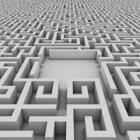 the maze: espacio vac�o en el laberinto sin fin para colocar el objeto de la elecci�n