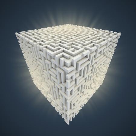 cubical maze  photo
