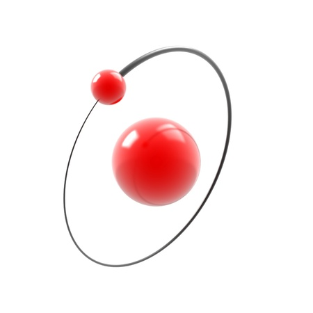 hydrogen atom 3d illustration isolated on white  illustration