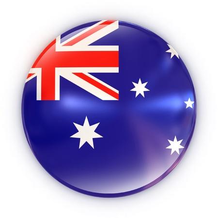australia flag: badge- Australian flag