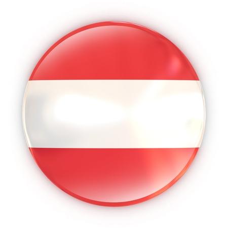 austrian flag: badge - Austrian flag