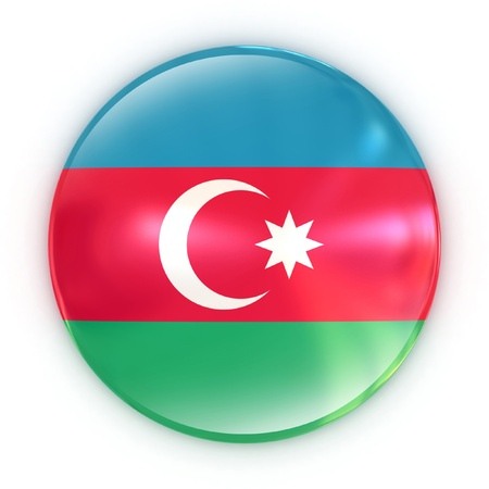 azerbaijan: badge - Azerbaijan flag