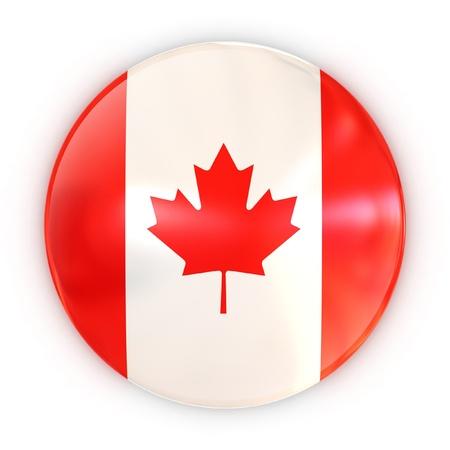 canadian icon: badge - Canadian flag