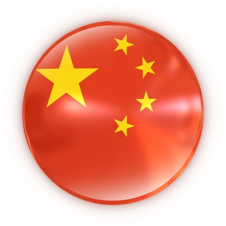 badge- Chinese flag  Stock Photo - 12558078