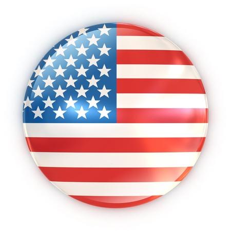 badge - US flag  photo
