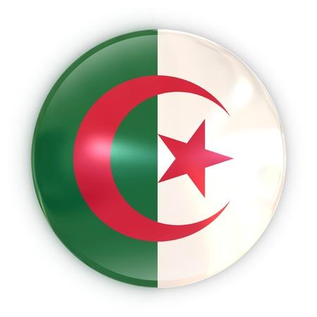 algerian flag: badge - Algerian flag