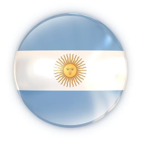 argentinian flag: badge - Argentinian flag