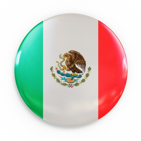 drapeau mexicain: insigne mexicain Banque d'images