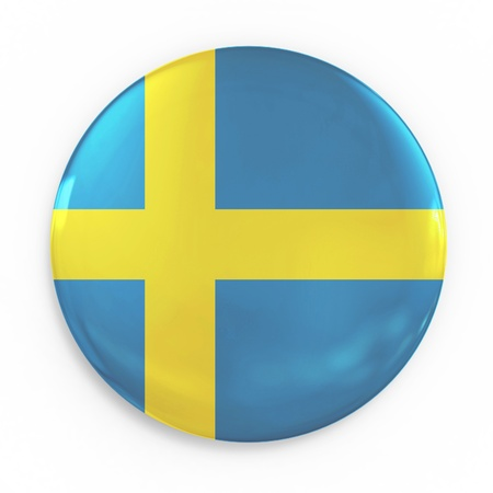 sweden flag: badge - Sweden flag