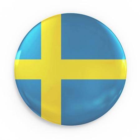 bandera de suecia: Placa - Bandera de Suecia Foto de archivo