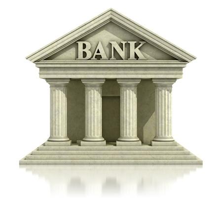 3D-bank geïsoleerd op de witte Stockfoto