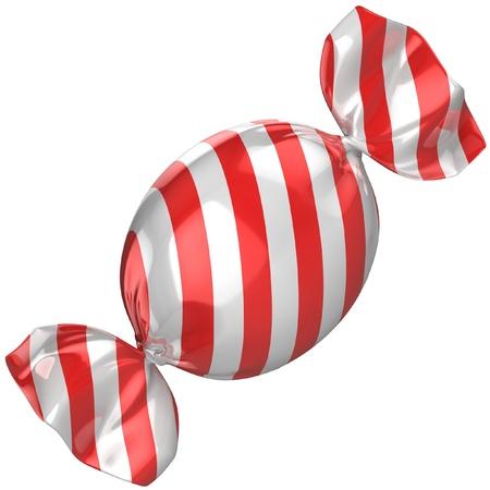paletas de caramelo: dulces aislados en el blanco Foto de archivo