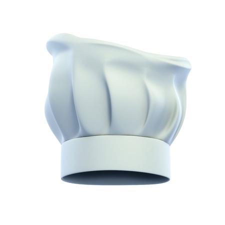 cocinero italiano: cocinero gorra, gorro de cocinero s aislado en la ilustraci�n de fondo blanco 3d