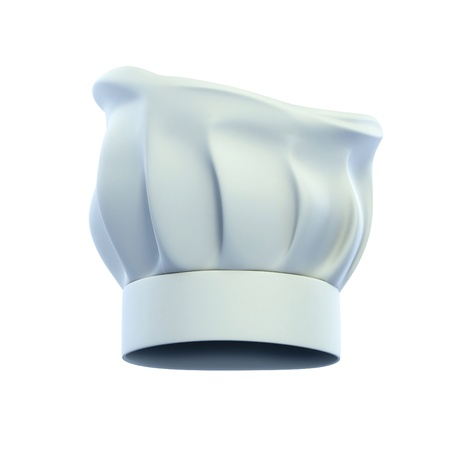 chef s hat: cook cap, chef s hat isolated on the white background 3d illustration