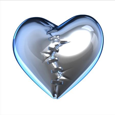 metalic broken heart  photo