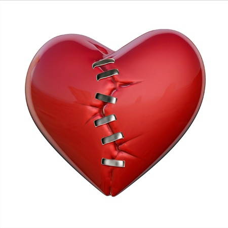 patches: broken heart  Stock Photo