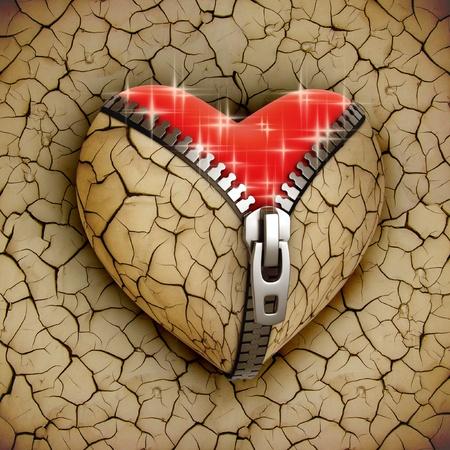 corazon roto: nuevo amor 3d concepto - coraz�n nuevo y brillante en un partido