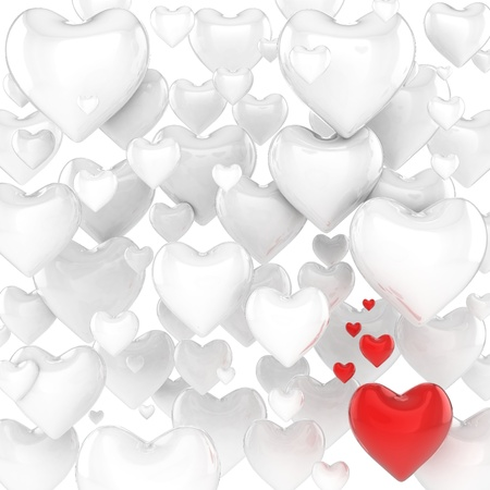 love kiss: hearts 3d background
