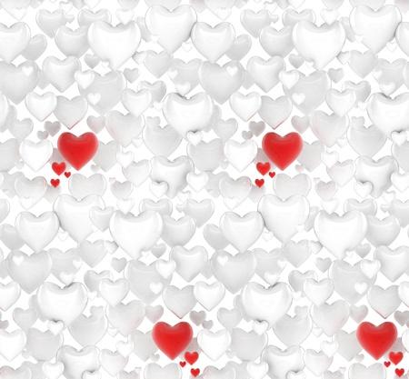 seamless 3d hearts XXL background  photo