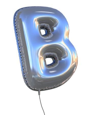 bright alphabet: letter B balloon 3d illustration