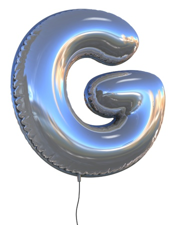 decorative letter: letter G balloon 3d illustration