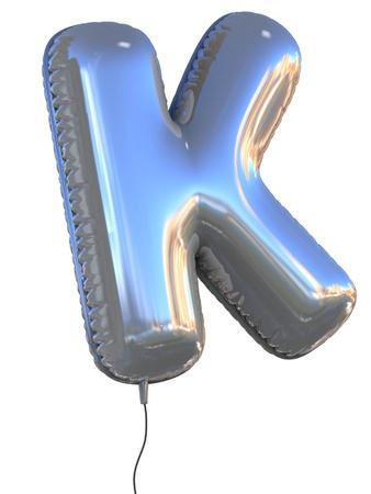 letter K balloon 3d illustration  illustration