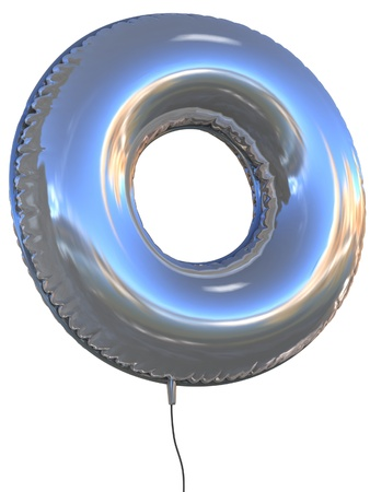 decorative letter: letter O balloon 3d illustration  Stock Photo