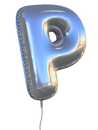 letter P balloon 3d illustration  illustration