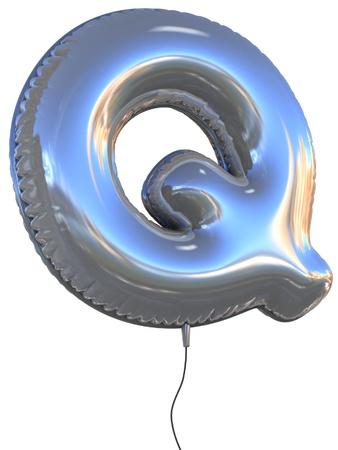q: lettera Q illustrazione pallone 3d