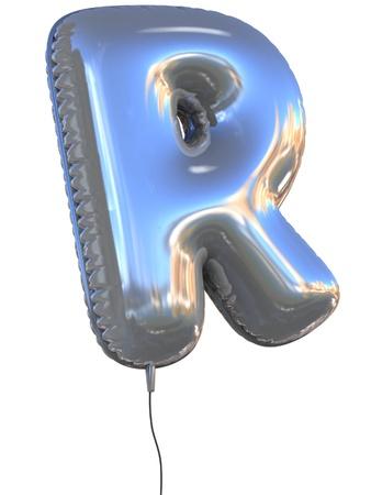 chrome letters: carta de globo R 3d ilustraci�n