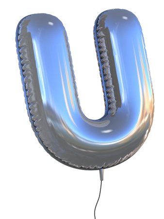letter u: letter U balloon 3d illustration