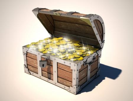 a cave: treasure chest