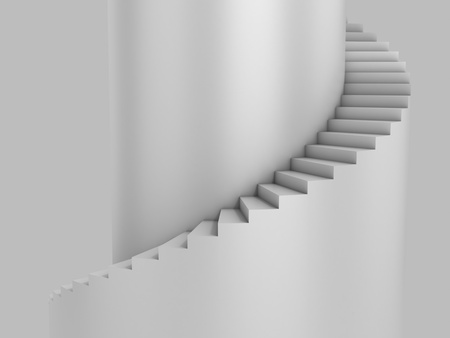 spiral staircase: spiral stairway as background 3d illustration  Stock Photo