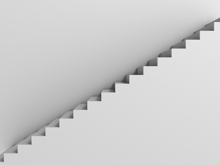 preferment: stairway as background 3d illustration
