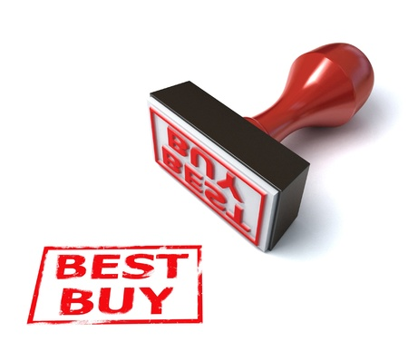3d stamp best buy Stock Photo - 12558101