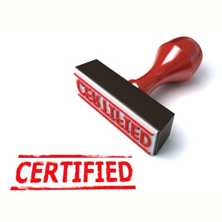 certified stamp: 3d stamp certified  Stock Photo