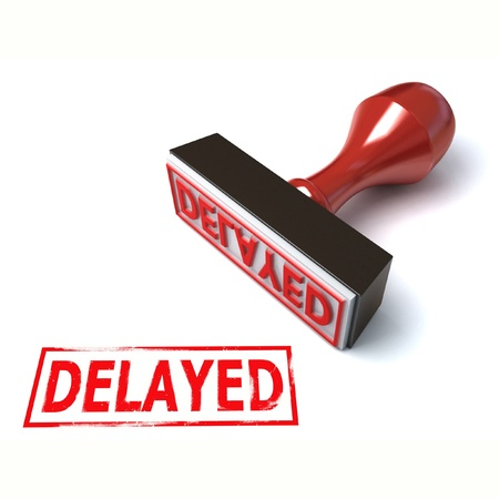 delayed: 3d stamp delayed  Stock Photo