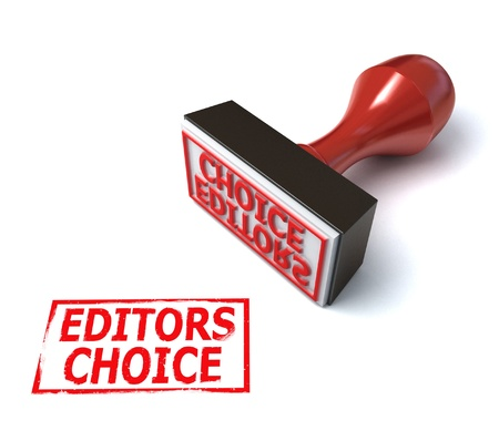 news paper: 3d stamp editors choice Stock Photo