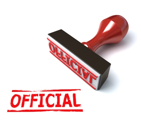 official symbol: 3d stamp official  Stock Photo