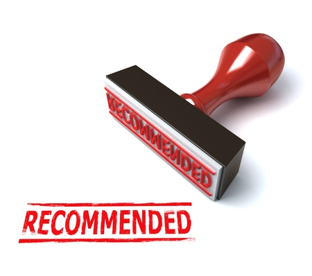 recommended: 3d stamp recommended Stock Photo