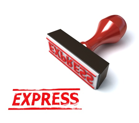 express rubber stamp 3d illustration Stock Illustration - 12558106