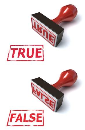 falso: erradicar falsos verdaderos Foto de archivo