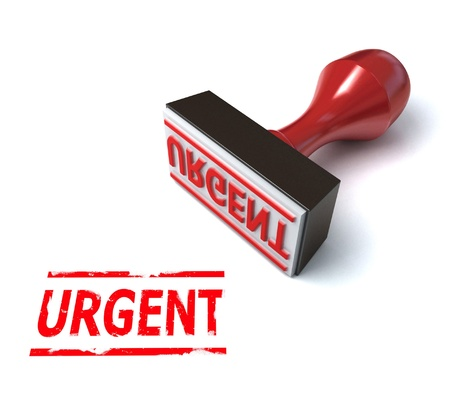 urgent rubber stamp 3d illustration Stock Illustration - 12558149