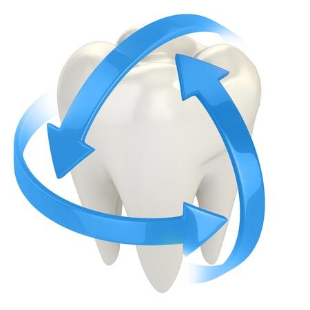 higiene bucal: la protecci�n de los dientes 3d concepto de Foto de archivo