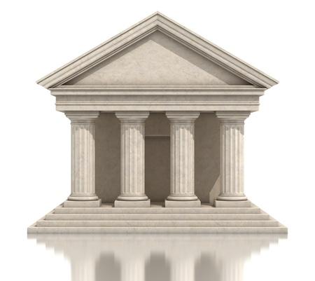 3d temple: stone temple Stock Photo