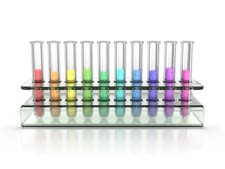 colorful test tubes  Stock Photo - 12558001