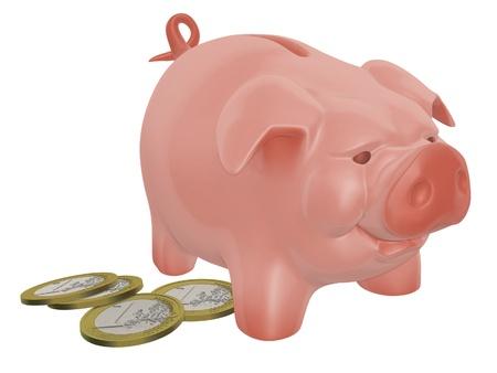 snaffle: piggy bang and money