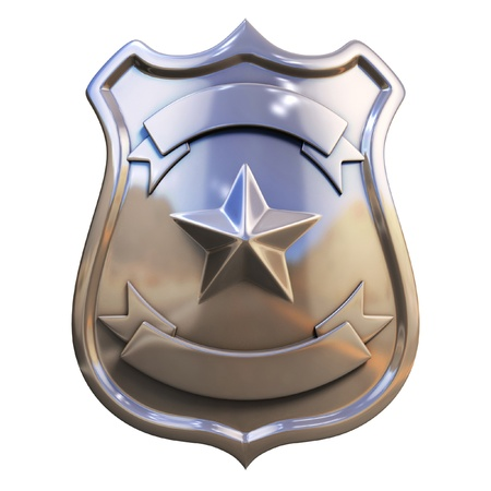 sh�rif: Badge blanc