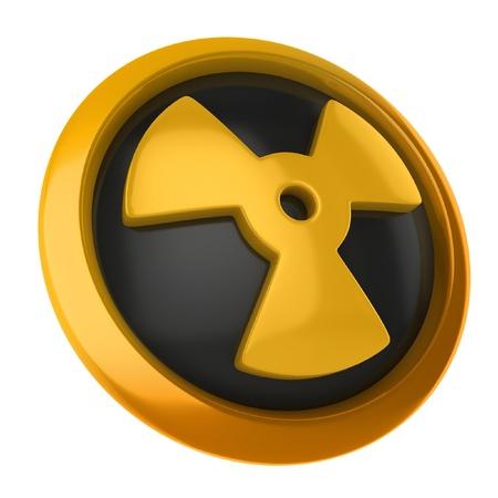hazardous waste: radioactive 3d icon  Stock Photo