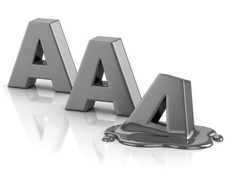 AAA credit rating downgrade  Stock Photo - 12557951